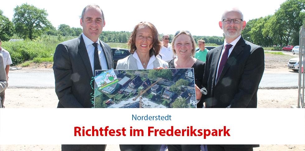 """Stadtquartier """"Frederikspark"""" feierte Richtfest"""