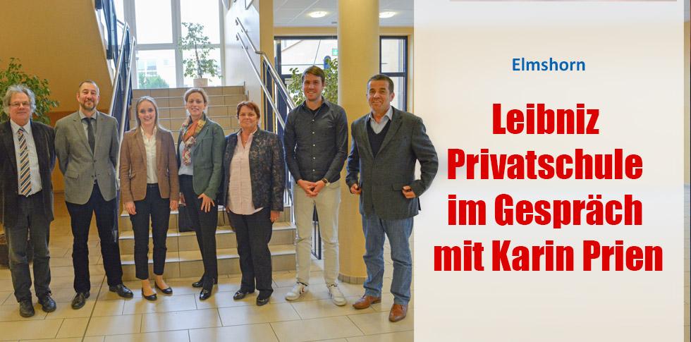 Leibniz Privatschule im Gespräch mit Karin Prien, CDU