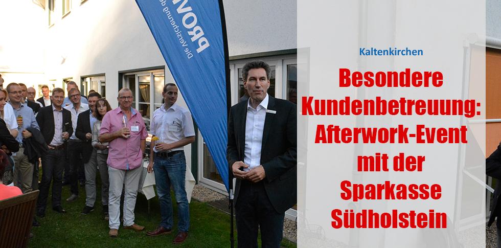 Besondere Kundenbetreuung: Afterwork-Event mit der Sparkasse Südholstein