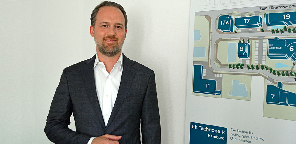 Christoph Birkel stellt hit-Technopark vor