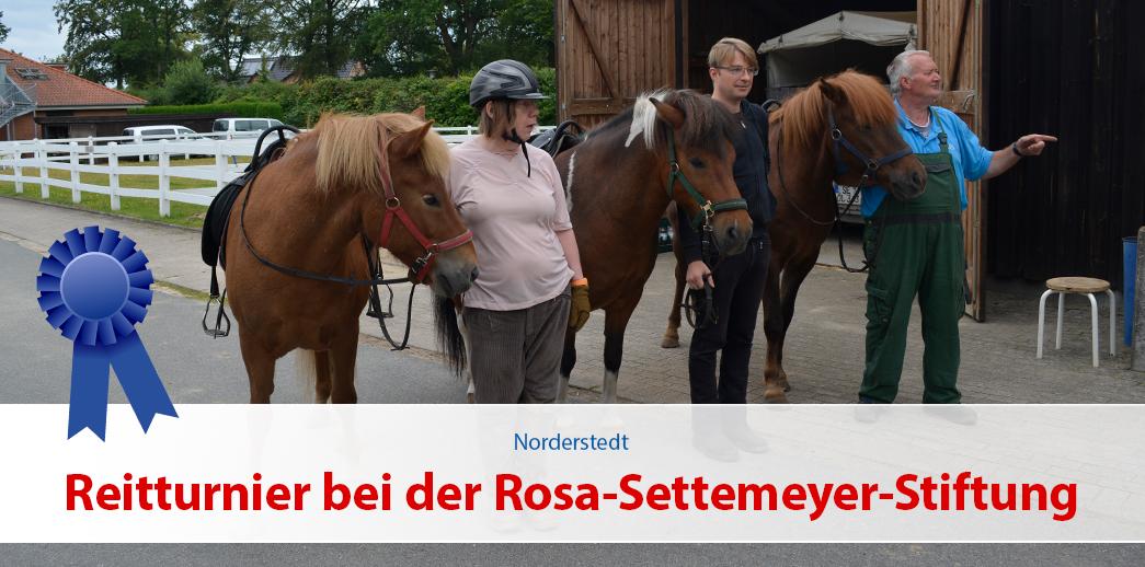 Reitturnier bei der Rosa-Settemeyer-Stiftung