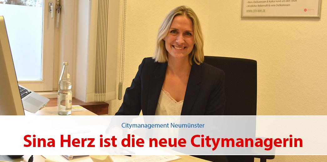 Sina Herz ist die neue Citymanagerin von Neumünster