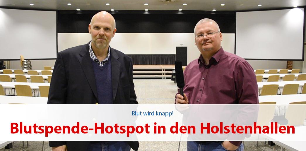 Blutspende-Hotspot in den Holstenhallen Neumünster