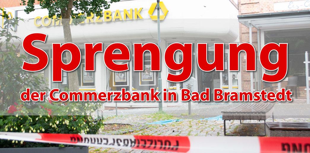 Commerzbank in Bad Bramstedt gesprengt