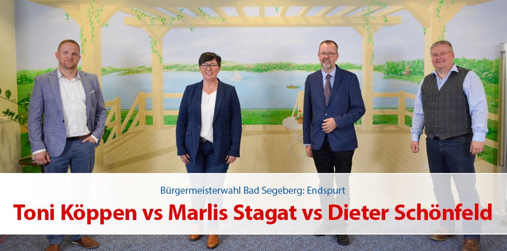 Endspurt: Toni Köppen vs Marlis Stagat vs Dieter Schönfeld