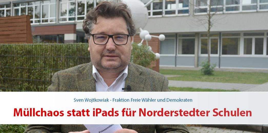 Müllchaos statt iPads für Norderstedter Schulen