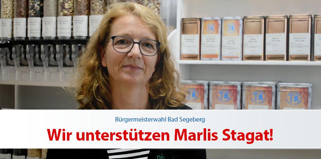 [Wahlwerbung] Wir unterstützen Marlis Stagat!