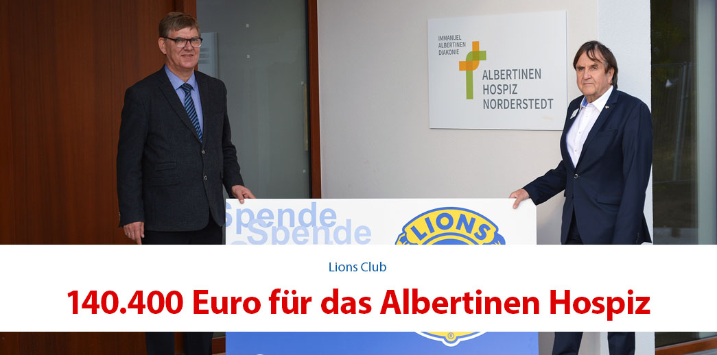 [Werbung] 140.400 Euro für das Albertinen Hospiz