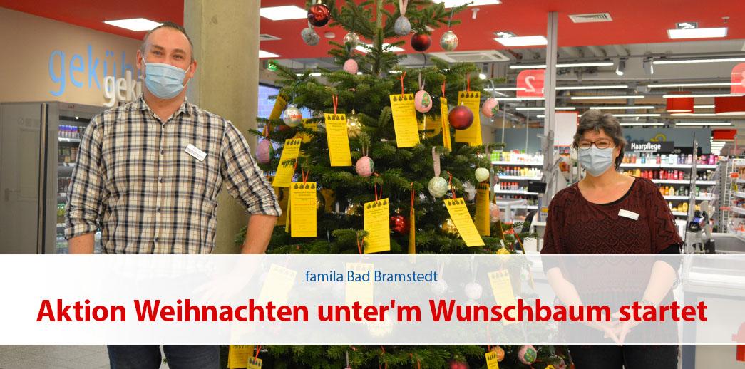 Aktion Weihnachten unter'm Wunschbaum startet