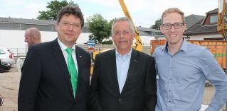 Wirtschaftsminister Meyer übergibt Förderbescheid beim Richtfest der Meissner Expo