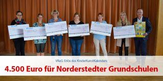 4.500 Euro für Norderstedter Grundschulen aus Erlös des KinderKunstKalenders